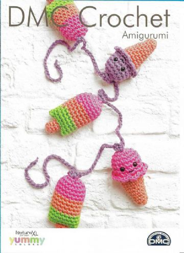 DMC Ice Cream and Lolly Bunting Amigurumi Crochet Pattern